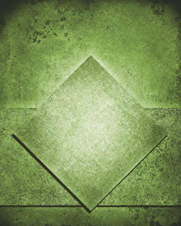 white leather texture: layered abstract green background layout design with diamond square and rough stripe shape layer with vintage grunge background texture, dull green color retro paint, green Christmas background color Stock Photo