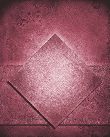 burgundy background: layered abstract pink background layout design with diamond square and rough stripe shape layer with vintage grunge background texture, dull pink color retro paint, burgundy Christmas background color