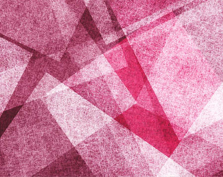 abstract pink background with white parchment paper geometric shapes, background texture, linen canvas style, background for graphic designers, website template background, modern contemporary art  Stock Photo - 22559144