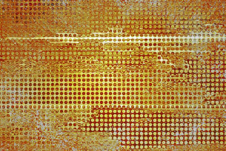 abstract gold background, orange white vintage grunge background texture, rough distressed hole or grid pattern design, vintage website template background or gold banner or brochure graphic art image Stock Photo - 22559209