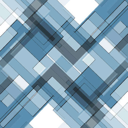 abstract blue background layered squares rectangles and diamond shaped angles, geometric design white gray background blue sky color tones