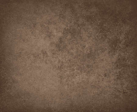 smeary: abstract brown background leather faded stain color illustration with sponge vintage grunge background texture, distressed rough smeary paint on wall, art canvas brochure ad or website template Stock Photo