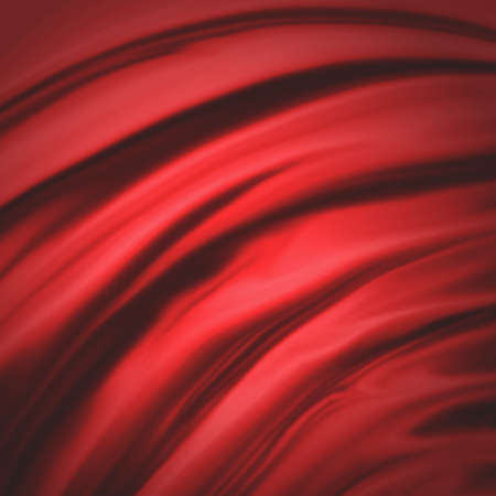 red background abstract cloth or liquid wave illustration of wavy folds of silk texture satin or velvet material or red luxurious Christmas background wallpaper design of elegant curves red material Stock Illustration - 23267298