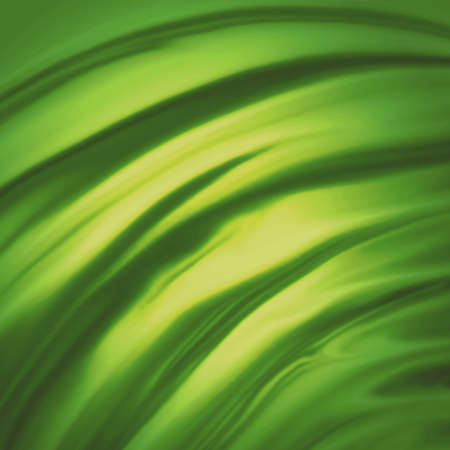 abstract yellow green background cloth or liquid wave illustration of wavy folds of silk texture satin or velvet material or green luxurious background wallpaper design of elegant curves green material