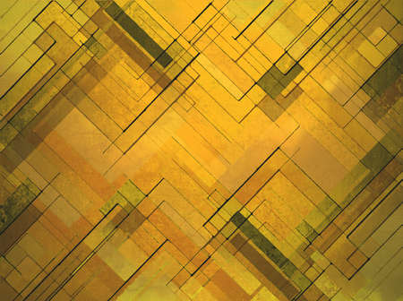 modern art: abstract yellow gold background layer design, square angles and geometric shape diamonds in modern art background