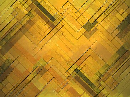 modern art: dise�o abstracto oro amarillo capa de fondo, �ngulos cuadrados y diamantes forma geom�trica de fondo de arte moderno