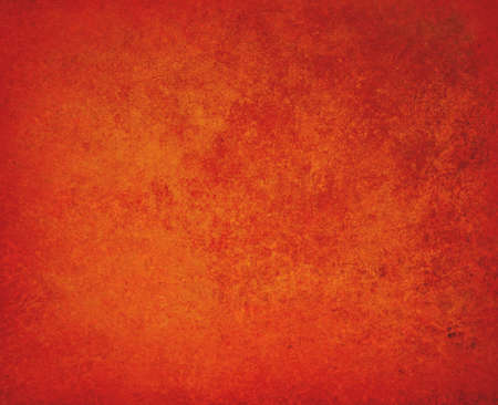 solid background: abstract orange background red border warm colors with sponge vintage grunge background texture, distressed rough smeary paint on wall, art canvas or board for brochure ad or website template