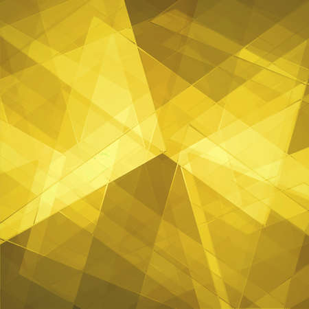angled: abstract geometric background design shape pattern, futuristic background, technology business presentation report cover, angled triangle abstract shape art, glass texture, yellow gold background wall Stock Photo