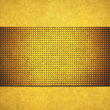 grid paper: abstract gold background  Stock Photo