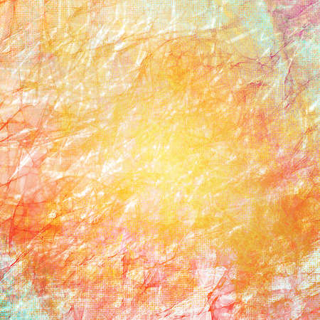 texture background paper, wrinkled creased old vintage grunge background texture design, orange peach background, white faded edges, rough distressed texture, abstract background, white pink border Stock Photo - 23947176