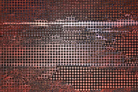 abstract grid background mesh net holes with distressed vintage grunge background texture, web banner background sidebar or app background, technology background, business report, techno background photo