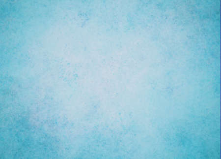 abstract blue background winter color white center dark frame, soft faded sponge vintage grunge background texture design, graphic art use in product design web template brochure ad, blue paper  Stock Photo