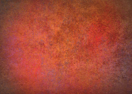 abstract orange background red border warm colors with sponge vintage grunge background texture, distressed rough smeary paint on wall, art canvas or board for brochure ad or website template Stock Photo - 24865782