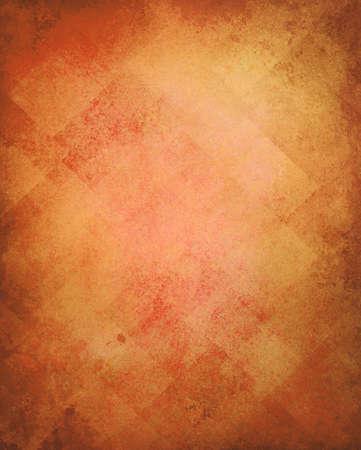 Abstract gouden achtergrond afbeelding patroon ontwerp op oude vintage grunge achtergrond textuur, geel bruin papier diagonaal blok patroon van geometrische vormen en lijn design elementen, luxe oranje achtergrond Stockfoto - 24865809