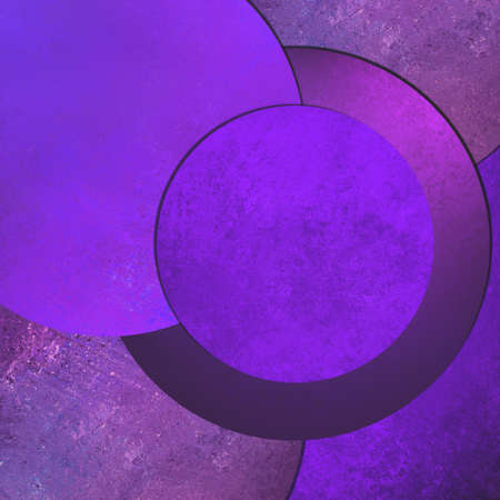 purple background abstract art design, modern style with vintage grunge background texture shape layers, circle button or blank round layout with text room for web design background, product display  Stock Photo