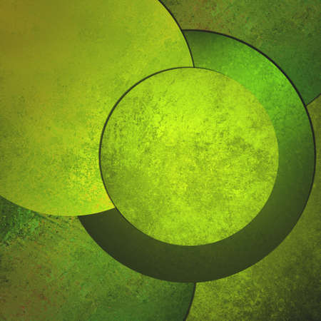 product display: green background abstract art design, modern style with vintage grunge background texture shape layers, circle button or blank round layout with text room for web design background, product display ad
