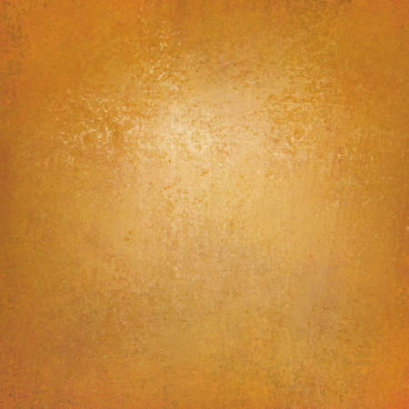 solid orange background wall paint with detailed vintage grunge background texture stain, luxury web background layout design, orange gold paper, light spot center and dark border,  photo