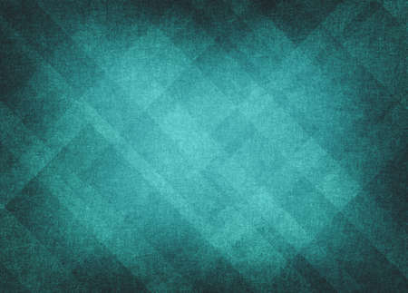 teal: light blue background abstract design, retro grunge background texture Easter layout of diamond element pattern and bright center, sky blue or green blue teal color, background template design website  Stock Photo