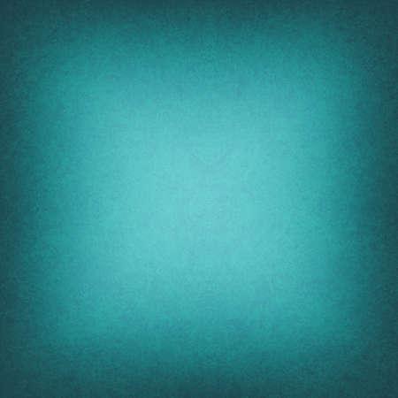 ティール ブルーの背景の黒い境界線またはダーク フレームをクールな明るい中央テクスチャを滑らかなグラデーションの黒い四角形のビネットのエ