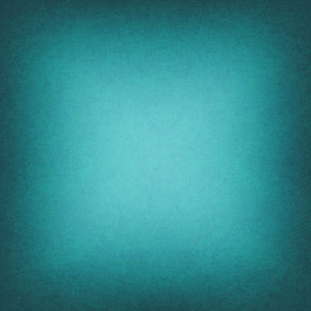 cool teal blue background black border or dark frame, smooth bright center texture into gradient square black vignette edge, abstract blue green paper for brochure or website backdrop color image