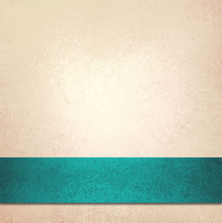 abstract off white background and blue green ribbon stripe, beautiful golden background teal accent color or fancy elegant pale gold background paper with faint luxurious vintage background texture  photo