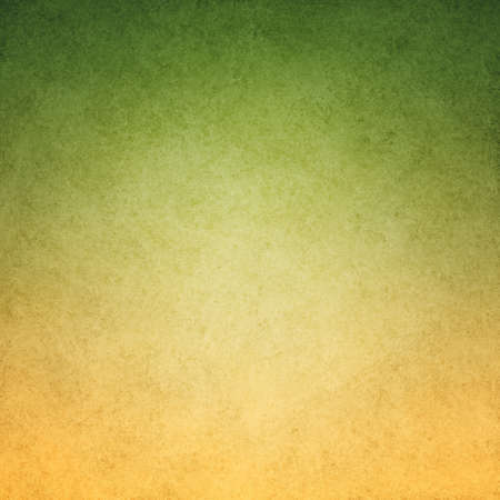 green and gold: green yellow background image with vintage grunge background texture and messy stained green border design, gradient gold to green color