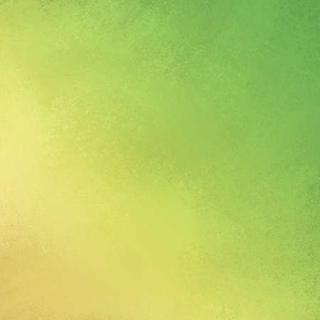 green background: distressed yellow green background with soft faded grunge background texture angled on borders, smeared green gold painted wall presentation background, spring green website backdrop  Stock Photo