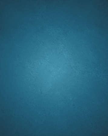 llanura: fondo azul de la pintura de pared sólida con detallada Vintage grunge textura de fondo mancha