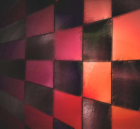 abstract red background black checkered patter or checkerboard photo
