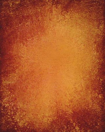 old orange background paper design with vintage grunge background texture photo