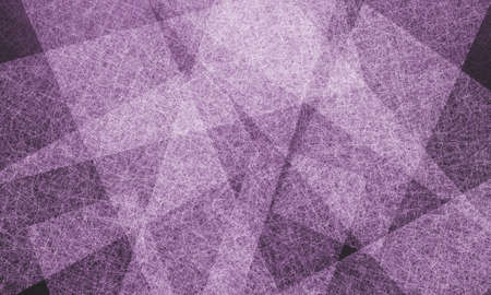abstract purple background, elegant white parchment layers in random diagonal angles, white linen line texture, rectangle shapes design on purple and black  photo