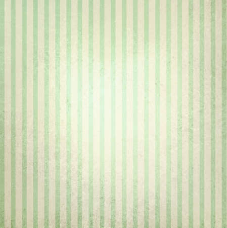 faded vintage green and beige striped background, shabby chic line design element on distressed texture with white center spot, cute Christmas background