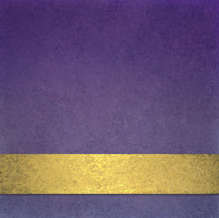 abstract purple background or website background design layout of elegant old vintage grunge background texture wall with blank luxury gold ribbon wrap on bottom frame for brochure ad or web template  photo
