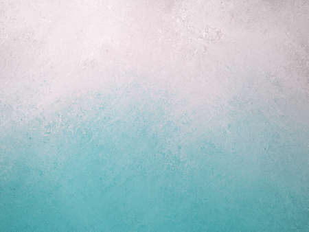 blue white background, bright sky blue bottom border and cloudy white top border layout, blended blue and white paint with old smeared and detailed texture, aged distressed vintage backdrop  photo