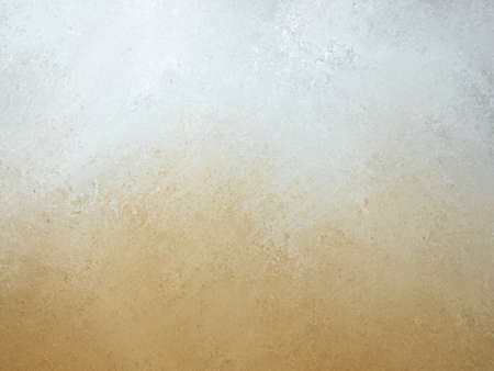orange white background, burnt orange bottom border and gray white top border layout, blended orange and white paint with old smeared and detailed texture, aged distressed vintage backdrop Standard-Bild