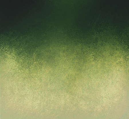 green gold background layout, blended dark green into pale yellow beige color paint with old pitted detailed texture, aged distressed vintage background  Stockfoto