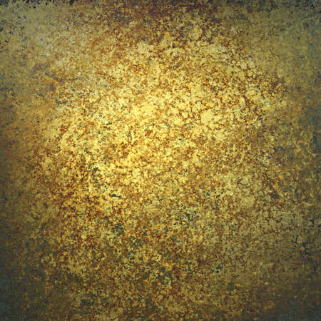 bumpy: textured gold paper background design, bright golden center and black vignette frame, gold painted wall surface with pitted bumpy grunge texture