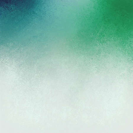 green blue white background layout, blended cool blue and green paint into white paint with old pitted detailed texture, aged distressed vintage texture paper or stationary