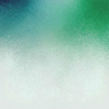 azul turqueza: fondo blanco azul dise�o verde, mezclado pintura azul y verde fresco en la pintura blanca con la vieja textura detallada sin hueso, la textura del papel del vintage apenada envejecida o estacionario Foto de archivo