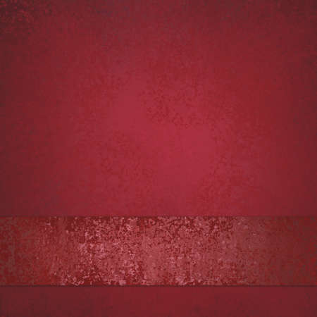 Red background with shiny matching red vintage ribbon on bottom border, elegant Christmas background  photo