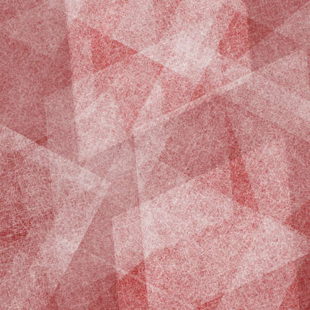 artsy: abstract red and white background of white layers of diamond and rectangle shapes of scratch texture lines and angles