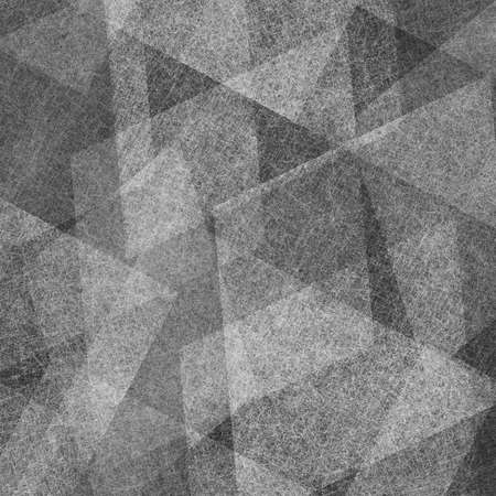 abstract gray and black background with white layers of diamond and rectangle shape of scratch texture lines and angles photo