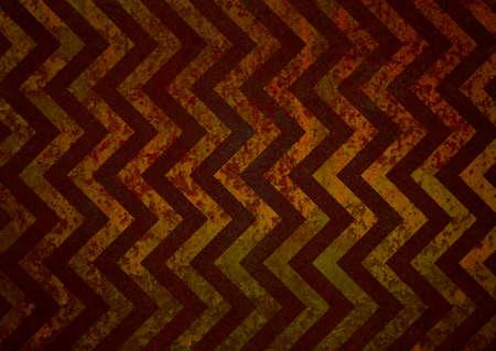 zigzag: retro chevron background, red stripes on rusty red gold background, old vintage grunge background texture, vintage zigzag background pattern design