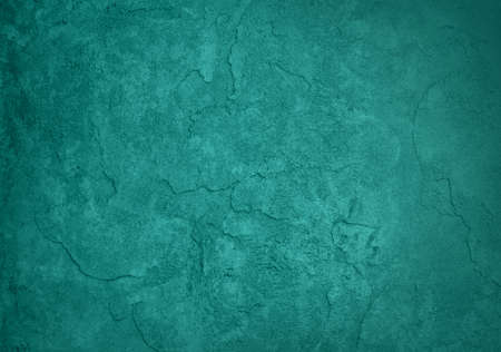 solid blue green background, classy elegant rich teal color and vintage texture background design, blank turquoise blue painted plaster or cement wall  photo