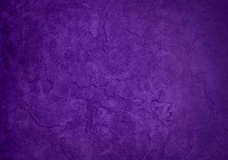 solid purple background, classy elegant rich purple color and vintage texture background design, blank purple painted plaster or cement wall  Stock Photo