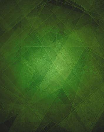 抽象的な背景が緑、近代的な幾何学的なラインのデザインと三角形のダイヤモンド、ガラス テクスチャ レイアウトを持つ正方形パターン