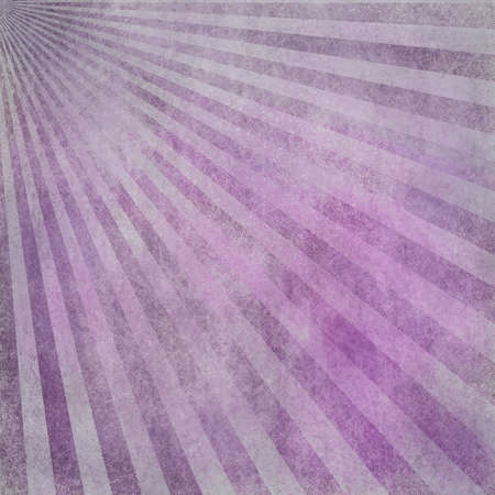 abstract faded retro background, purple pink and white distressed vintage sunburst design pattern of stripes or lines radiating from corner, grunge background texture photo