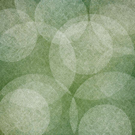 abstract green background with white floating bubbles or round shape design elements in random pattern photo