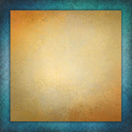 Elegant Blue Background Texture Paper, Faint Rustic Gold Grunge ...