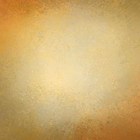 金: エレガントなゴールドの背景テクスチャ紙、かすかな素朴なグランジ ボーダー ペイント デザイン、古い金の不良の壁塗料